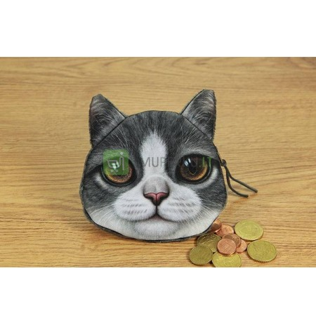 3D Cat coin bag model 3