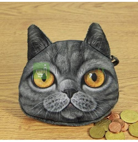 3D Cat coin bag model 4