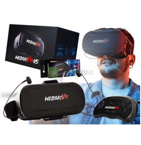 GLASSES VR 3D GOGGLES WITH HEADPHONES + CONTROLLER PILOT