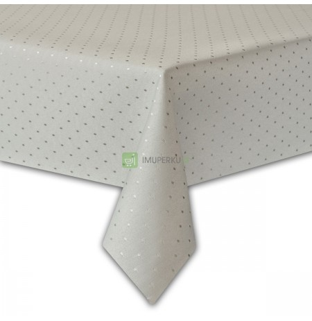 STAIN-RESISTANT tablecloth - 140X200 - WHITE THICK JACQUARD