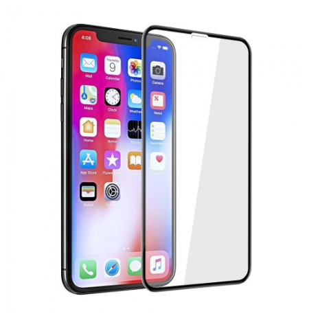 Devia Real Series 3D Curved Full Screen Explosion-proof Tempered Glass iPhone XR (6.1) black