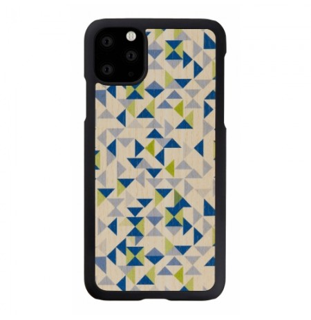 MAN&WOOD SmartPhone case iPhone 11 Pro Max blue triangle black