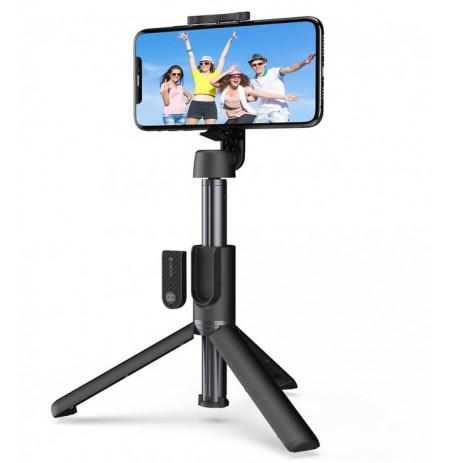 Devia Tripod stand All-in-one multifunctional selfie-stick black