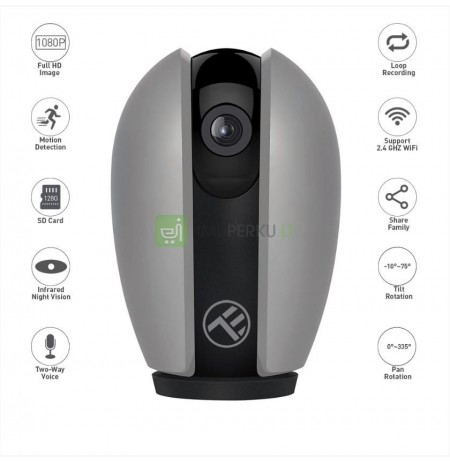 Tellur WiFi Smart Indoor Camera FullHD Pan&Tilt gray