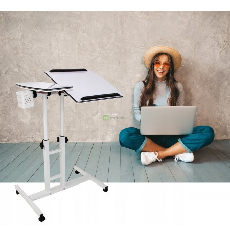 TABLE SHELF FOR LAPTOP 2 COUNTERTOPS ADJUSTABLE WHEEL