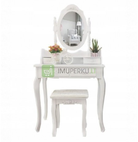 COSMETIC TOILET WITH A MIRROR TABORET EQUIPPED