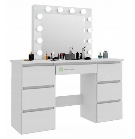 White dressing table with a cosmetic mirror Beta 4 12LED