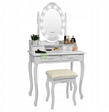 COSMETIC TOILET WITH LED MIRROR SENSOR + STOOL