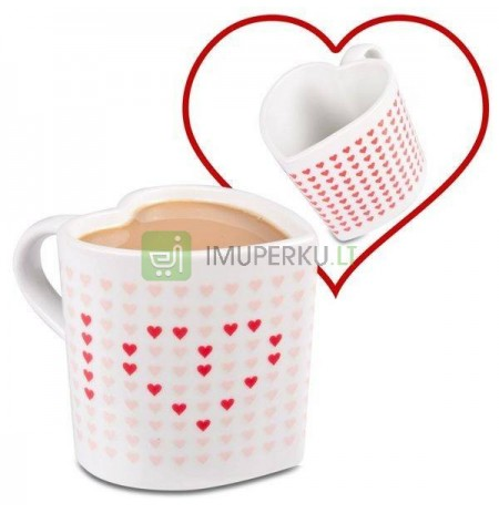 Magic hearts mug (color changing) - HEART SHAPED